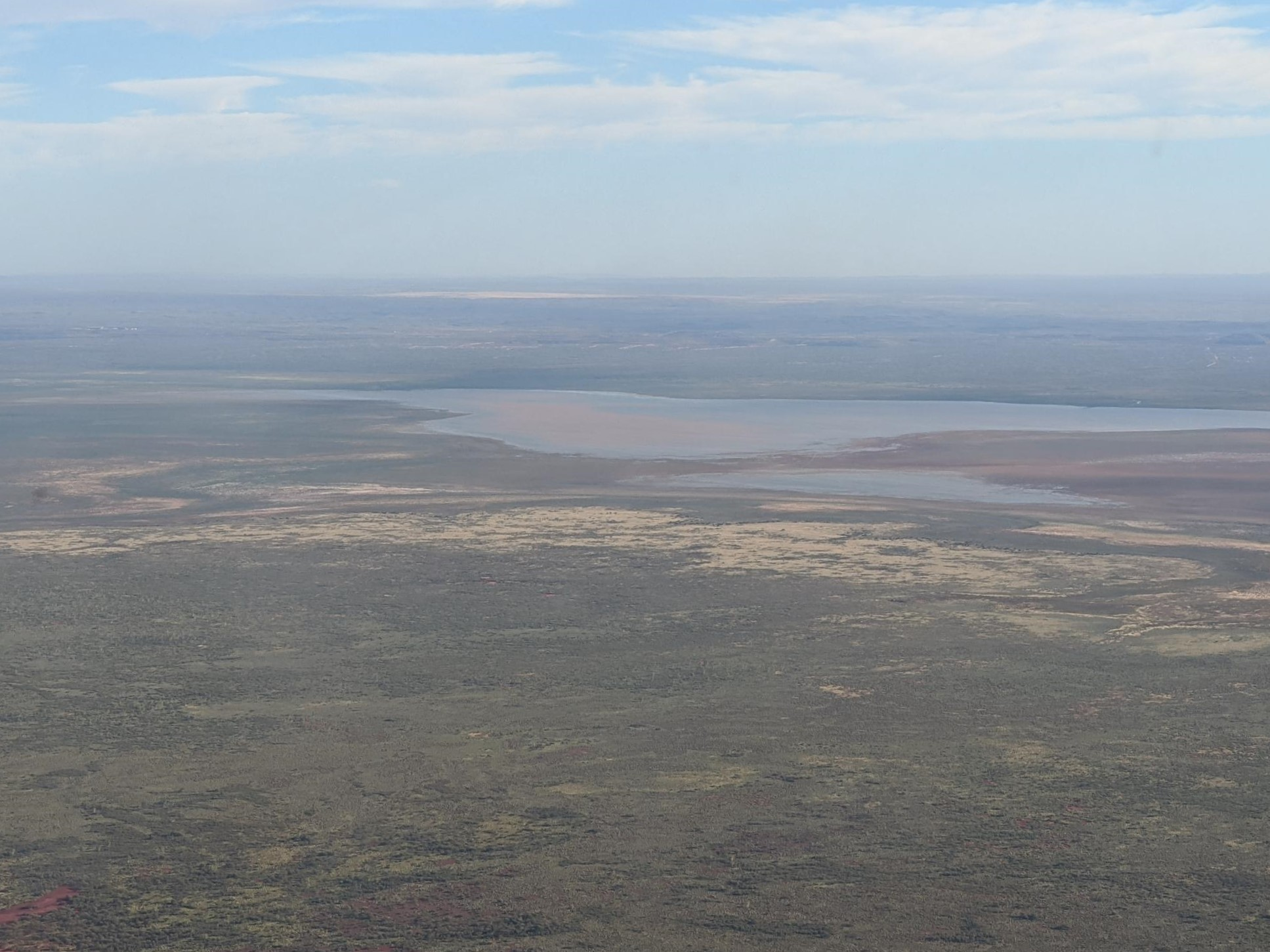Aerial view of the Fortescue marsh in the Pilbara, known for its biodiversity. Photo: K. Nguyen.
